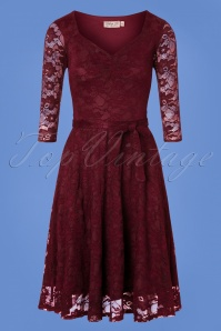 Vintage Chic Coded Daisy Lace Dress in Navy 102 31 26446 20180821 0002W
