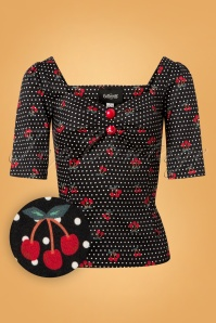 Collectif Clothing Dolores Cherry Top 110 14 24858 20180626 0003W1