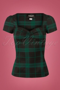 Collectif Clothing Mimi Slither Check Top 110 49 24852 20180626 0002W