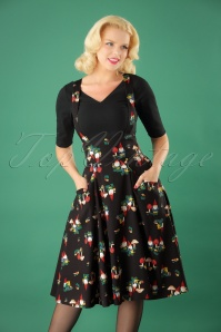 50s Alexa Gnome Swing Skirt in Black