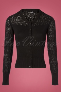 Pretty Vacant Heart Cardigan in Black 140 10 25174 20180913 0002W