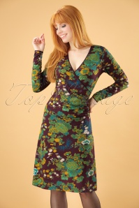 Nisai Long Sleeves Cross Dress Années 60 en pourpre