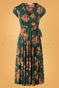 Vintage Chic Emerald Floral Dress 102 49 26456 12072018 01W