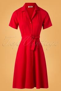 50s Melinda Swing Dress in Red