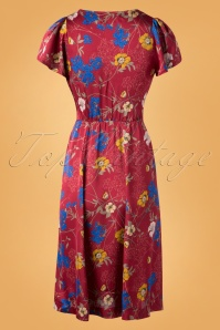 Louche Marilyn Floral Red Dress 102 27 25908 20180914 0009W