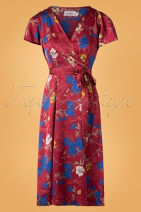 Louche Marilyn Floral Red Dress 102 27 25908 20180914 0003W