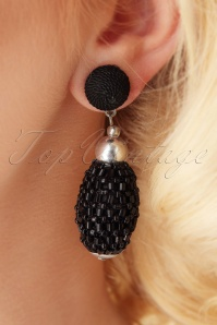 Darling Divine Black Earrings 333 10 26898 09062018 002W
