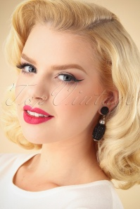 Darling Divine Black Earrings 333 10 26898 09062018 001W