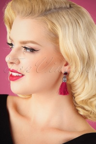 20s Blair Tassel Earrings in Burgundy