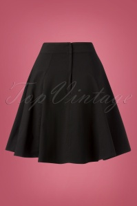 Collectif Clothing Tammy Bengaline Swing Skirt in Black 122 10 24905 20180918 0008W