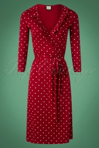 Mademoiselle Yeye Red Polkadot Wrap Dress 106 27 25534 20180914 0001W