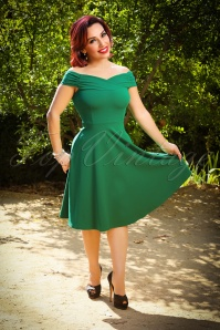 Viintage Chic Off Shoulder Green Dress 102 40 26517 20180717 0006W