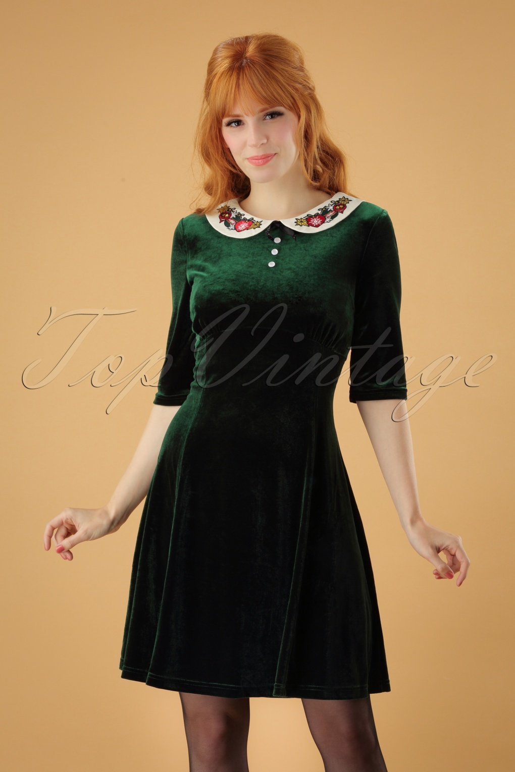 Vintage Christmas Dress | Party Dresses | Night Out Outfits 60s Nicola Mini Dress in Green £56.87 AT vintagedancer.com