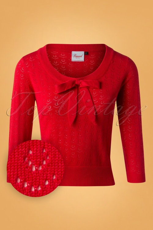 Banned 50s Pointelle Red Top 113 20 26186 20180919 0004W1