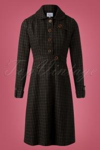 Lizzie Coat Années 40 en Marron