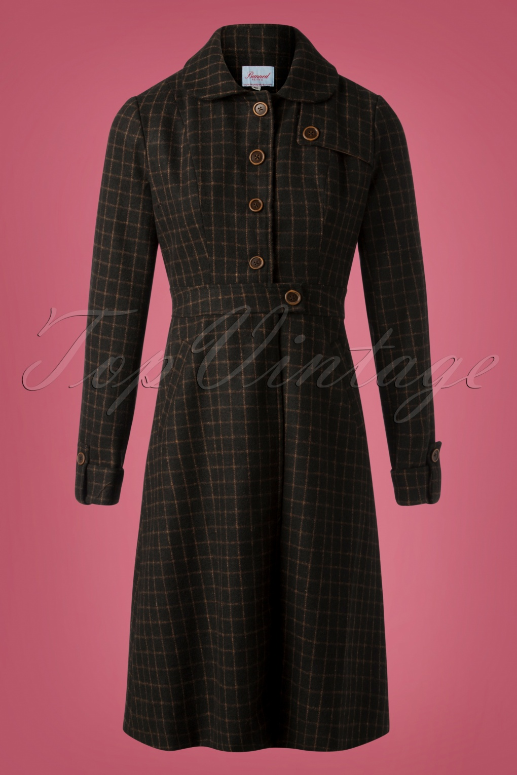 1940s Coats & Jackets Fashion History 40s Lizzie Coat in Brown £89.27 AT vintagedancer.com