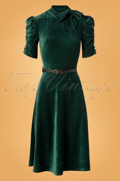 Vixen Penelope Velvet Dress in Green 106 40 25014 20180919 0003W
