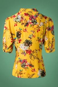 Vixen Katherine Mustard Floral Blouse 112 89 25038 20180920 0018W