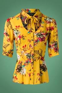 Vixen Katherine Mustard Floral Blouse 112 89 25038 20180919 0004W