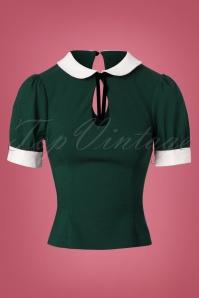 40s Khloe Top in Green