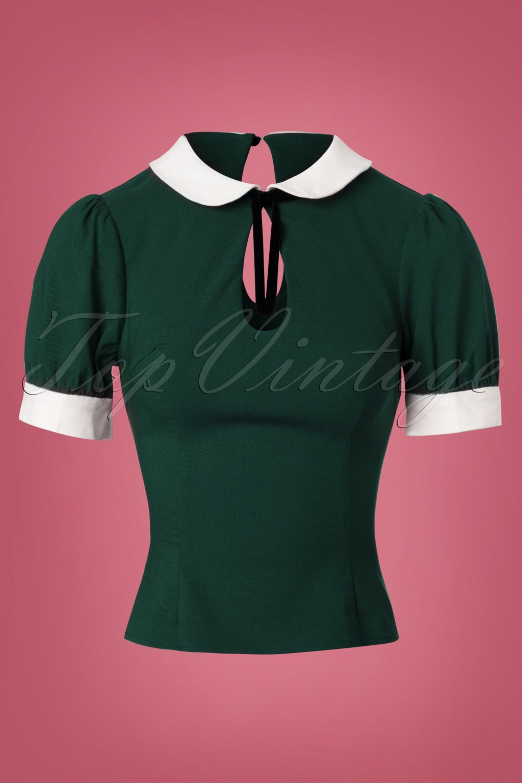 1930s Style Blouses, Shirts, Tops | Vintage Blouses 40s Khloe Top in Green £30.60 AT vintagedancer.com