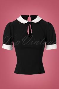 40s Khloe Top in Black