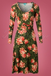 LaLamour Lidy Dress Floral Green 102 49 25223 20180920 0004W