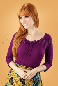 50s Pretty Illusion Top in Grape