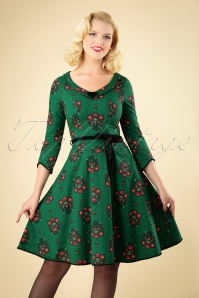 Blutsgeschwister So Long Lonely Green Floral Dress 102 49 26059 20180828 0012W