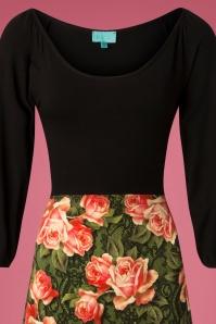 LaLamour Flared Green Floral Dress 102 49 25221 20180920 0002V