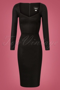 Collectif Clothing Helene Pencil Dress in Black 24883 20180627 0004W