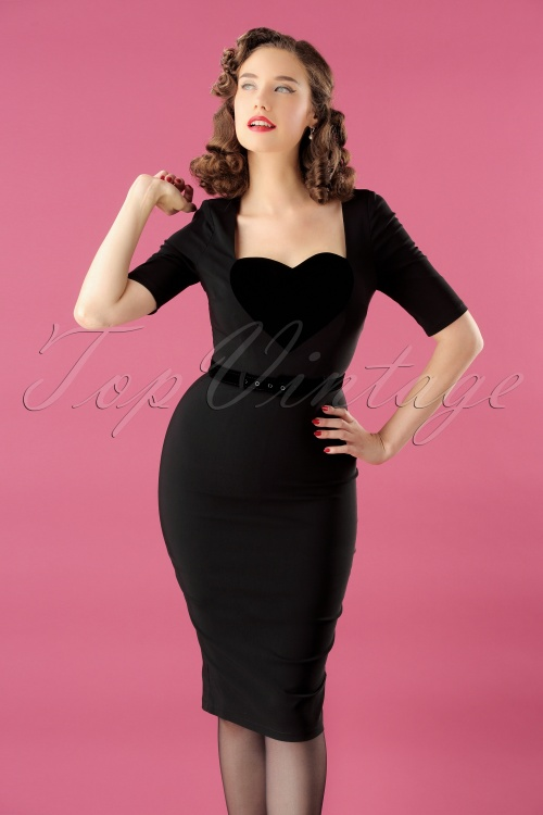 Collectif Clothing Ophelia Pencil Dress Black 24885 20180627 1W