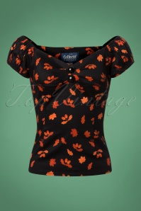 50s Dolores Acorn Top in Black