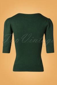 Collectif Clothing Chrissie Plain Knitted Top Green 27496 20180921 0005W