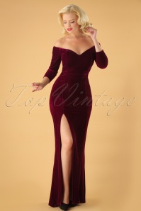 Collectif Clothing Anjelica Velvet Maxi Dress 24800 20180629 0008W