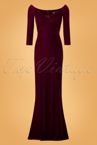 Collectif Clothing Anjelica Velvet Maxi Dress 24800 20180628 0003W