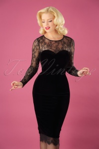 Collectif Clothing Illona Pencil Dress in Black 24897 20180628 1W