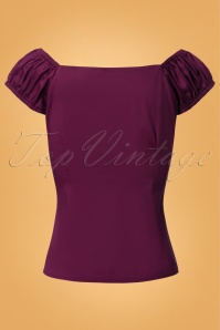 Collectif Clothing Dolores Top Plain Purple 110 60 24850 20180629 0011W