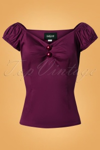 Collectif Clothing Dolores Top Plain Purple 110 60 24850 20180629 0007W