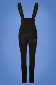 Collectif Clothing Karen Suspender Trousers in Black 131 10 24872 20180629 0003W