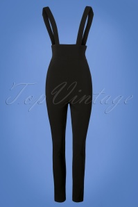 Collectif Clothing Karen Suspender Trousers in Black 131 10 24872 20180629 0001W