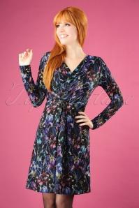 Yumi Iris Jersey Dress Purple  100 14 25698 20180821 1W