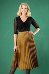 Yumi Golden Pleated Skirt 129 91 25693 20180821 0002W