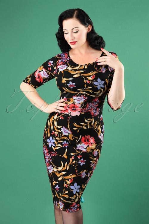 Vintage Chic Signature Style Floral Pencil Dress 100 14 26440 20180801 1W