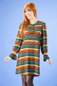 70s The Transition Thrilled Dress in Cognac