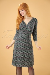 60s Cecil Backbeat Dress in Dark Navy