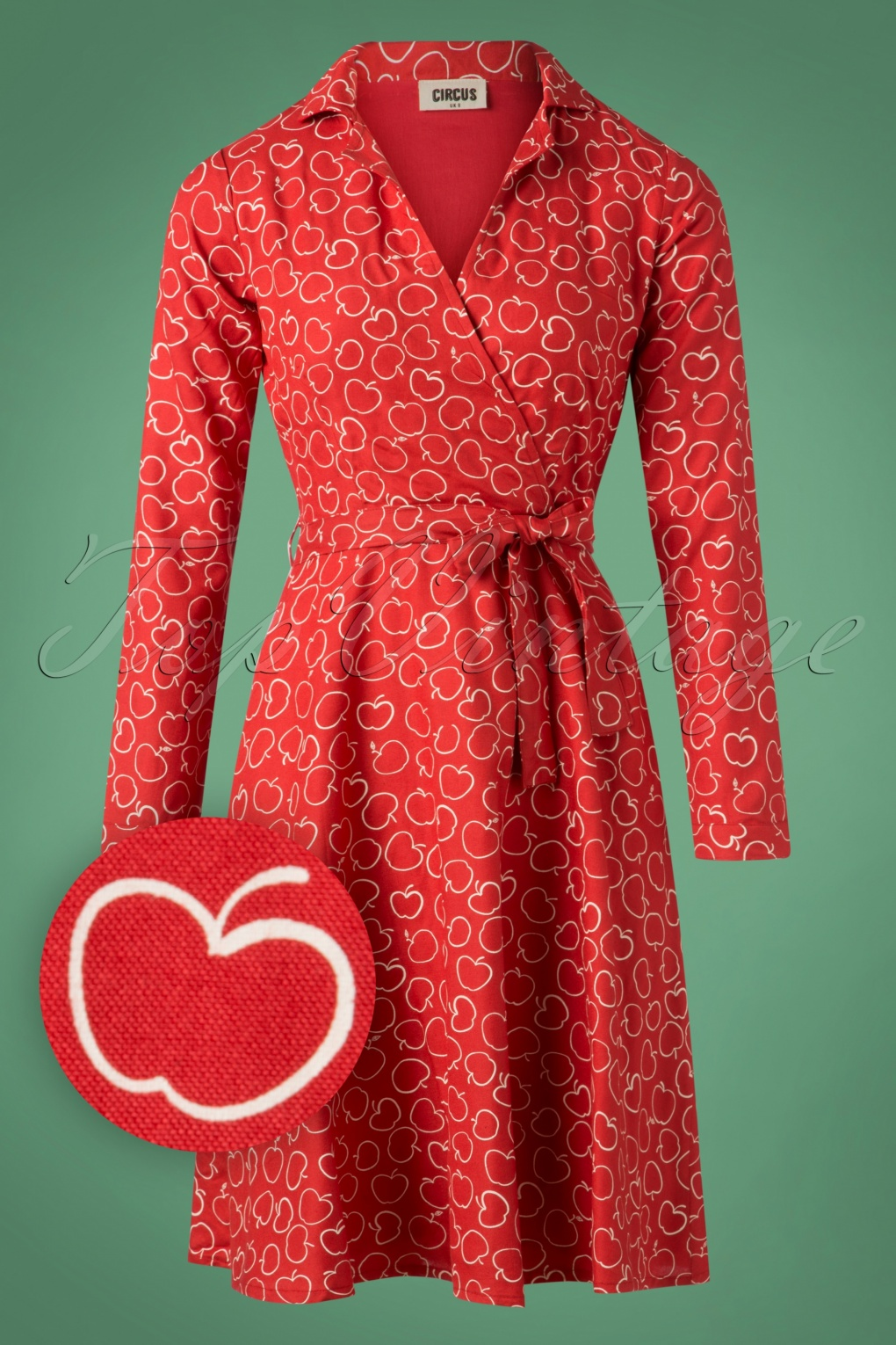 Vintage Coats & Jackets | Retro Coats and Jackets 60s Apple Swing Dress in Red £63.93 AT vintagedancer.com