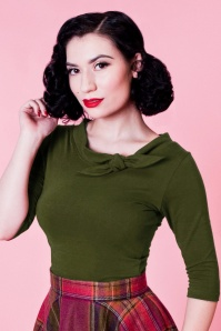 Heart of Haute Lily Top in Olive 113 40 25736