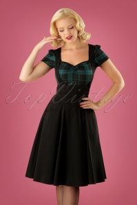 50s Alexa Swing Skirt in Black