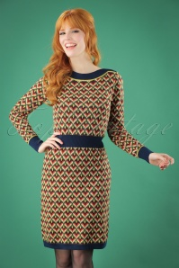 60s Audrey Glow Dress in Blue
